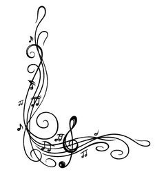 Clef music sheet vector image
