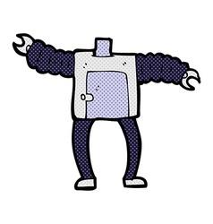 comic cartoon robot body mix and match comic vector image