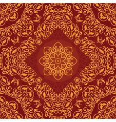 Decorative rosette arabesque seamless pattern vector image vector image