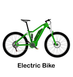 Electric bike isolated on vector