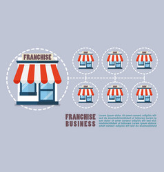 franchise business in flat style infographic vector image