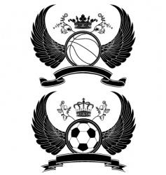 heraldic sport pattern vector image vector image