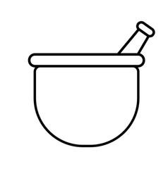 mortar icon vector image
