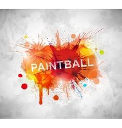Paintball banner vector image vector image