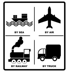 Passenger and cargo transportation by sea vector image vector image