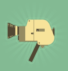 Retro hand film camera in simple style vector image vector image