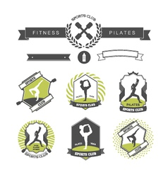 Set of sports clubs badges vector image