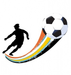soccer player and ball vector image vector image