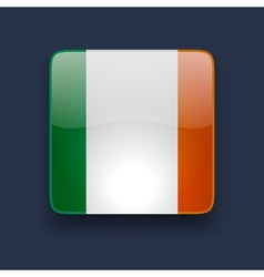 Square icon with flag of Ireland vector image vector image