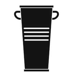 Trash can with handles icon simple style vector image vector image