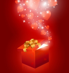 valentines day gift box vector image vector image