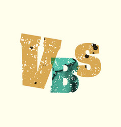 vbs concept stamped word art vector image vector image