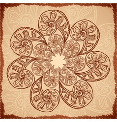 Vintage beige abstract background vector image