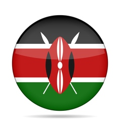 Button with flag of kenya vector