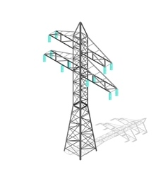 High Voltage Power Pylon Transmission Tower vector image