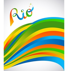 Rio design for sport games of rio with color art vector
