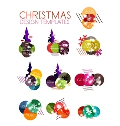 Christmas label or price tag sticker vector