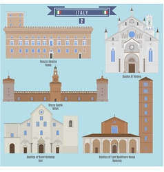 Famous places in italy vector