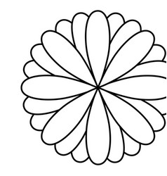 Figure flower with petals icon vector