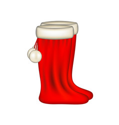 Red santa claus boots vector