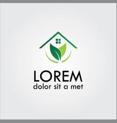 Home eco logo vector