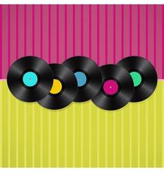 vinyls background vector image