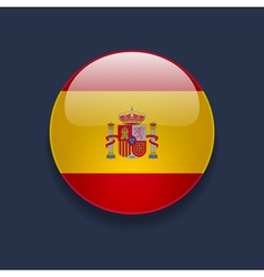 Round icon with flag of spain vector