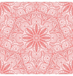 Pink seamless pattern of round lacy napkins vector