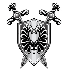 shield heraldry vector image