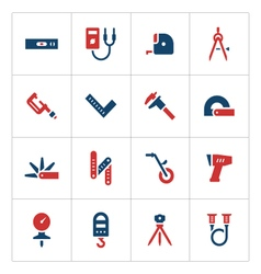Set color icons of measuring tools vector