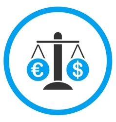 Currency compare rounded icon vector