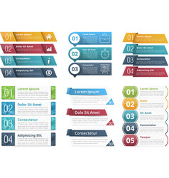 Infographic templates with numbers vector