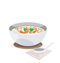 Shrimp porridge vector image