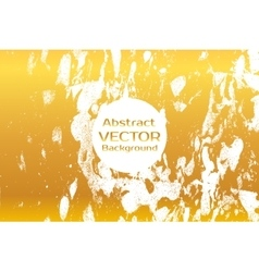 Gold abstract painted marble vector