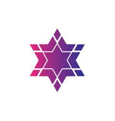 abstract logo star symbol hexagon logo vector image vector image
