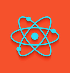 Atom sign whitish icon on vector