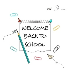 Back school background vector