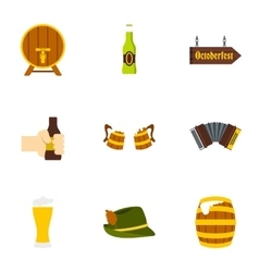 Beer icons set flat style vector image