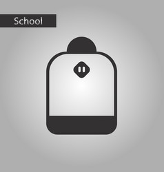Black and white style icon school bag vector