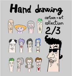 Cartoon collection II vector image vector image