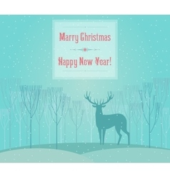 Christmas deer merry christmas and happy new year vector