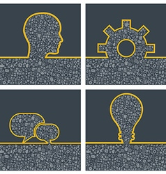 Concept of big ideas inspiration innovation vector image