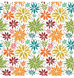 Cute colorful seamless floral background vector image vector image