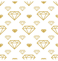 Diamonds seamless pattern gold brilliant vector