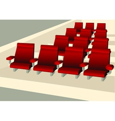 Empty seats vector image