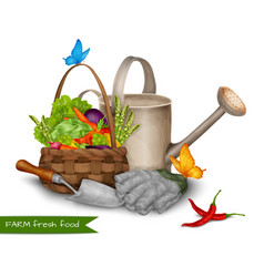 Farm fresh food concept vector image