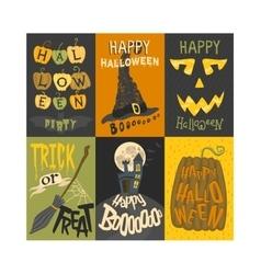 Halloween invitation cards vector image vector image