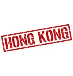 Hong Kong red square stamp vector image vector image