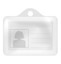 id card mockup realistic style vector image