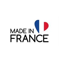 Made in france symbol with the heart vector